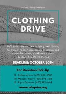 Alqaim Clothing Drive